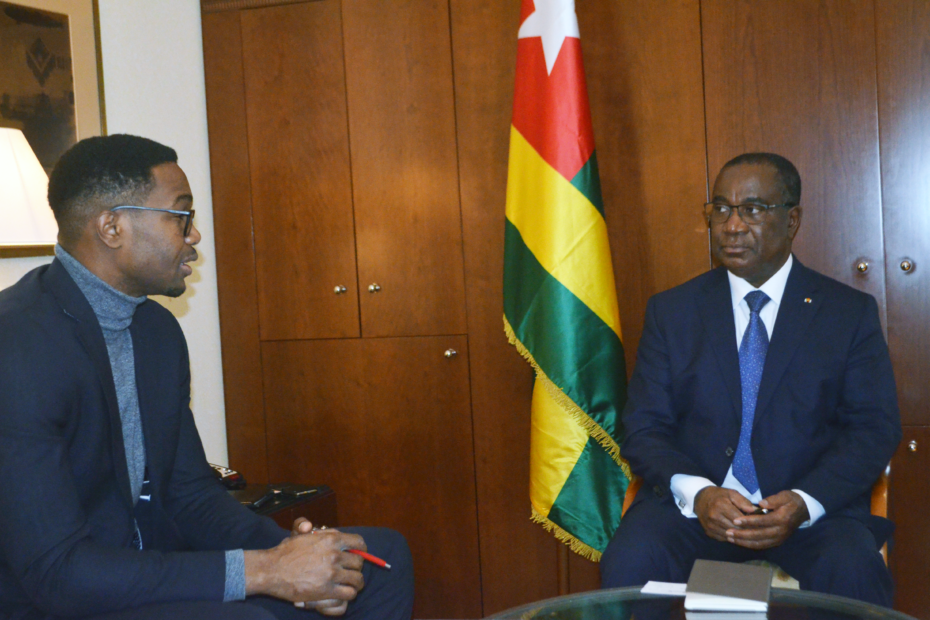 Erick Yong (GCP) with the Prime Minister of Togo